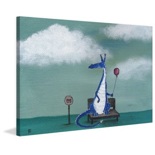 Marmont Hill - 'Andrea Dragon Bus Stop' by Andrea Doss Painting Print on Wrapped Canvas