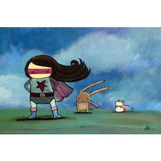 Marmont Hill - 'Super Heroes' by Andrea Doss Painting Print on Wrapped Canvas