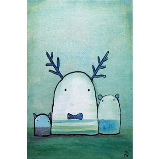 Marmont Hill - 'Oop Bop and Dawdle' by Andrea Doss Painting Print on Wrapped Canvas