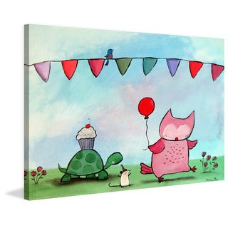 Marmont Hill - 'Woodland Party' by Andrea Doss Painting Print on Wrapped Canvas
