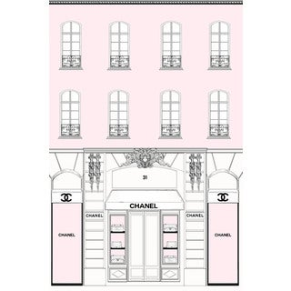 Marmont Hill - 'Pink Store Front' by Loretta So Painting Print on Wrapped Canvas
