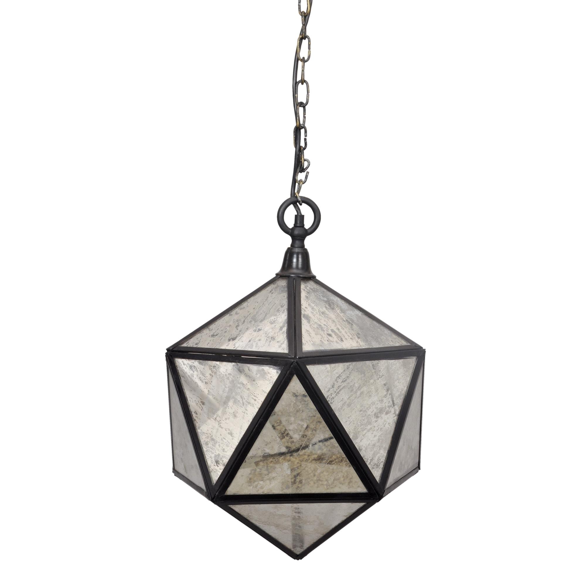 Horizon mercury glass aged bronze prism pendant light ebay horizon mercury glass aged bronze prism pendant light aloadofball Images