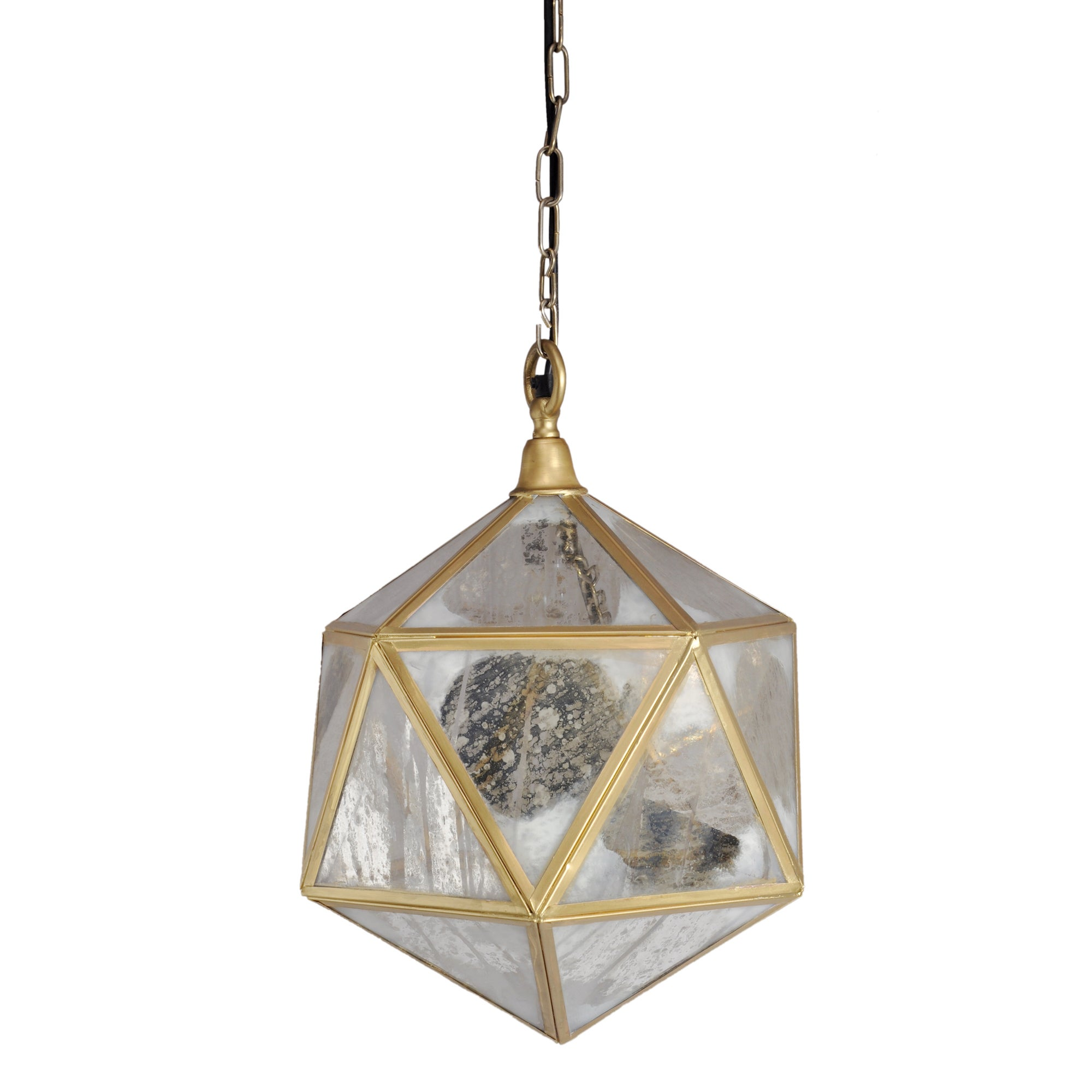 Horizon Mercury Glass Aged Bronze Prism Pendant Light
