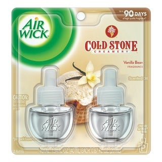 Air Wick Scented Cold Stone Creamery Vanilla Bean 0.67 oz. 2-pack Oil Refill (Pack of 6)