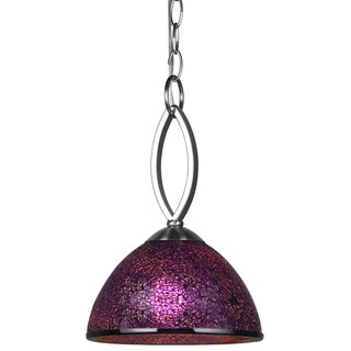 Woodbridge Lighting Alexis Purple Mosaic Stainless Steel Mini Pendant Light