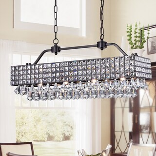 Fintra Black Rectangular Crystal Pendant