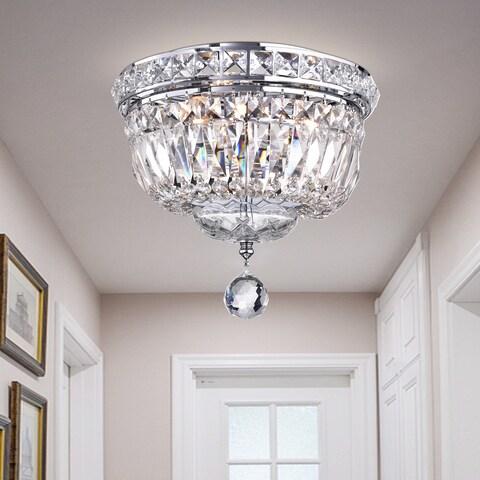 Sedguwa Clear Chrome and Crystal Basket Ceiling Lamp