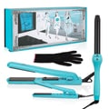 Brilliance New York Blue Ceramic Trio Set With 1.25-inch Flat Iron, 0.5-inch Mini and 1-inch Curling Iron
