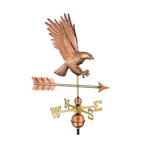 American Bald Eagle Pure Copper Weathervane by Good Directions