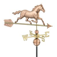Good Directions Trotting Horse Polished Copper Weathervane