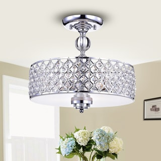 Dyesta Silver Chrome Crosshatch Round Lamp