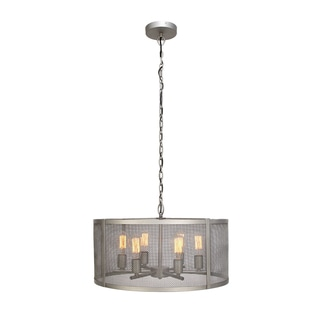 Urban Designs Grey Metal Webbing 6-light 25-inch Pendant Light Chandelier