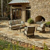 Klaussner Outdoor Cerissa 4-piece Brown Aluminum Set with ClimaPlush Cushions