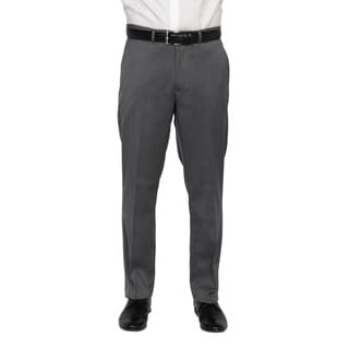 Kenneth Cole New York Men's Light Grey Polyester-blend Trousers Size 42X32 in Grey(As Is Item)