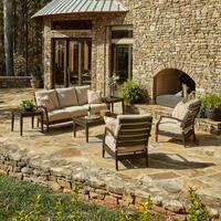 Klaussner Outdoor Cerissa 6-piece Brown Aluminum Set with ClimaPlush Cushions