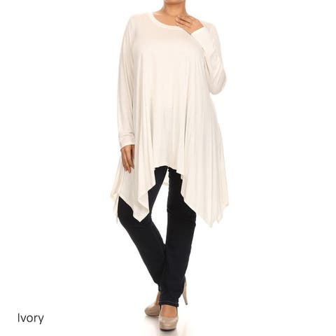 Women's Plus Size Solid Tunic