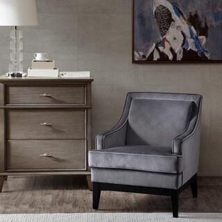Madison Park Signature Derby Grey/ Black Noir Arm Chair