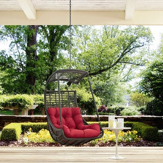 Modway Jungle Steel Outdoor Hanging Patio Swing Chair