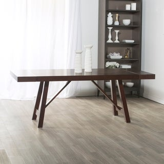 60-inch Solid Wood Trestle Espresso Dining Table