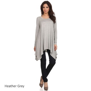 Women's Rayon and Spandex Solid Tunic