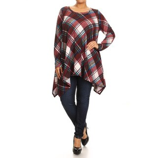 Women's Plus Size Plaid Tunic
