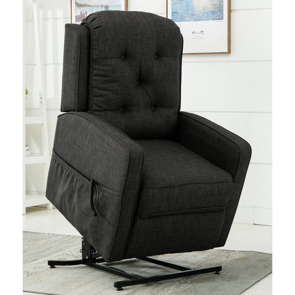 Parry Charcoal Track Arm Lift Chair by Greyson Living