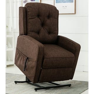 Parry Brown Track Arm Lift Chair by Greyson Living