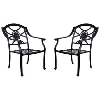 Rose Aluminum Dining Chairs (Set of 2)