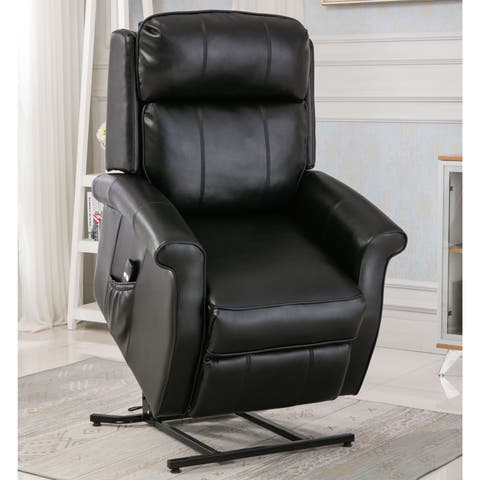 Lawrence Black Traditional Lift Chair by Greyson Living