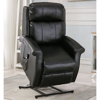 Greyson Living Lawrence Black Traditional Lift Chair