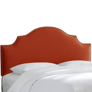 Skyline Furniture Hacienda Mystere Velvet Nail Button Notched Headboard