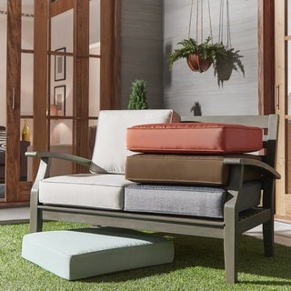 Isola Outdoor Fabric Loveseat Cushions by NAPA LIVING