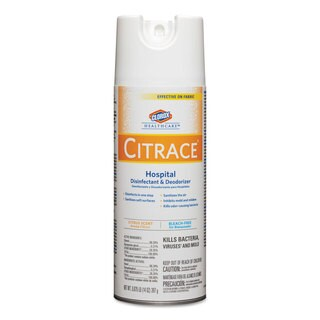 Clorox Healthcare Citrace Hospital Disinfectant & Deodorizer Citrus 14-ounce Aerosol 12/Carton