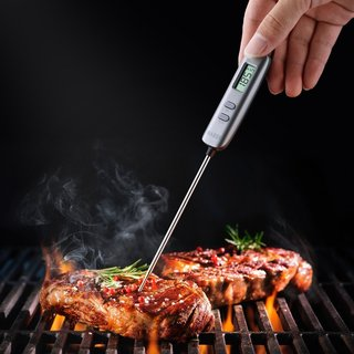 Meat Thermometer Digital Cooking Thermometer with 5-second Instant Read - Black