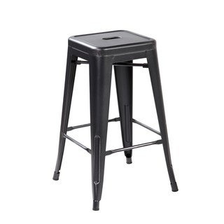 26.4-inch Industrial Counter Dining Barstool, (Set of 4)