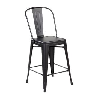 Iron Counter Dining Bar Stool (Pack of 4)