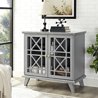 32-inch Fretwork Grey Entryway Console