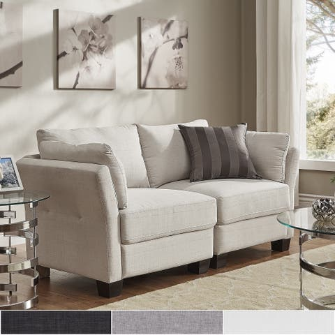 Elize Modern Linen Fabric Loveseat by iNSPIRE Q Bold