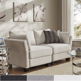 Elize Modern Linen Fabric Loveseat by iNSPIRE Q Bold (3 options available)