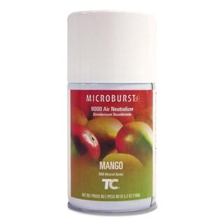 Rubbermaid Commercial Microburst 9000 Air Freshener Refill Mango 5.3 oz Aerosol 4/Carton