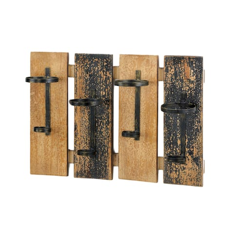 Carbon Loft May Rustic Wall-mounted Wine Rack