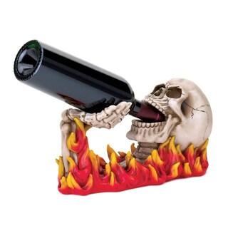 Koehler Plastic Flaming Skull Wine Holder