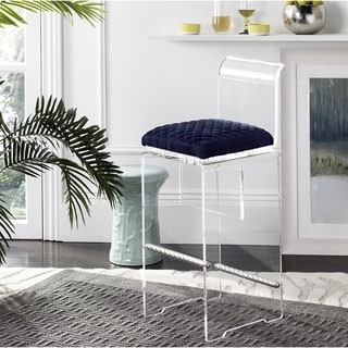 Safavieh Couture High Line Collection Irene Navy Blue Acrylic Barstool