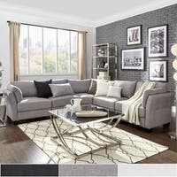 Elize L-Shaped 5-Seat Linen Fabric Modular Sectional Seating by iNSPIRE Q Bold