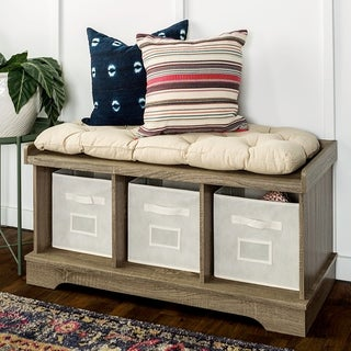 Top Product Reviews For 42 Inch Driftwood Storage Bench With Totes