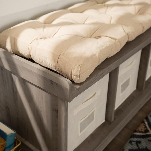 Fabulous Shop The Gray Barn Paradise Hill Storage Bench With Cushion Short Links Chair Design For Home Short Linksinfo