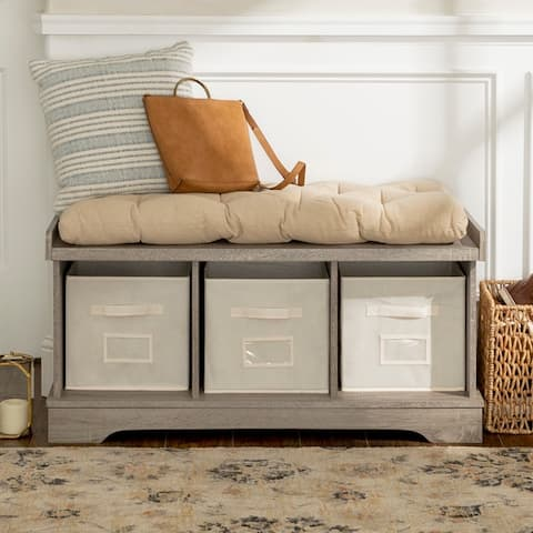 The Gray Barn Paradise Hill Storage Bench with Cushion