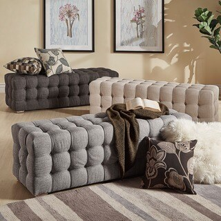 Knightsbridge Linen Fabric Tufted Bench by iNSPIRE Q Artisan (3 options available)