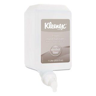 Kleenex Alcohol-Free Foam Hand Sanitizer 1,000 ml Clear 6/Carton