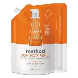 Method Dish Soap Refill Clementine Scent 36-ounce Pouch 6/Carton